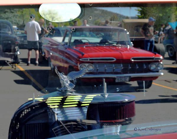 Photograph - Reflections At The Car Show 2 by Kae Cheatham
