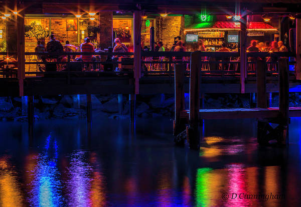 Photograph - Reflections From Riverview Grill by Dorothy Cunningham