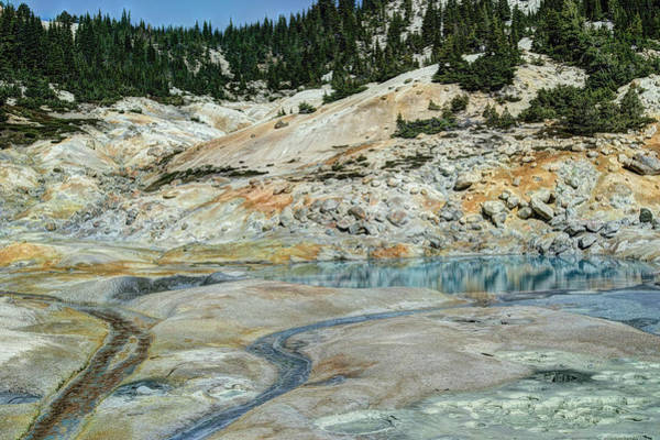 Photograph - Reflections In A Sulfur Pool by Peter Dyke