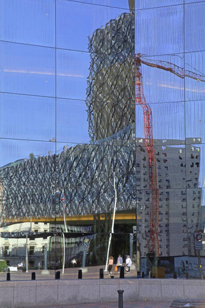 Photograph - Reflections In Birmingham Symphony Hall by Tony Murtagh