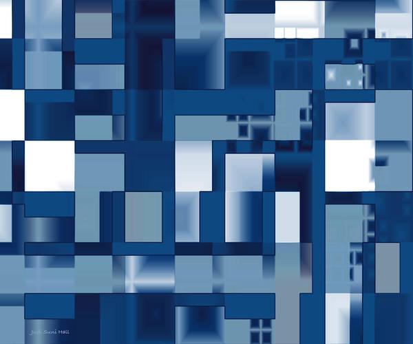 Digital Art - Reflections In Blue by Judi Suni Hall