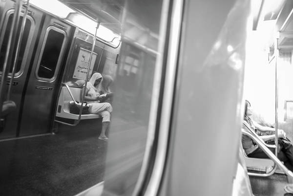 Photograph - Reflections In New York City Subway by Ranjay Mitra