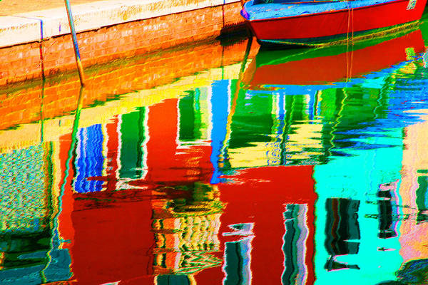 Pastel - Reflections Near The Red Hull by Donna Corless