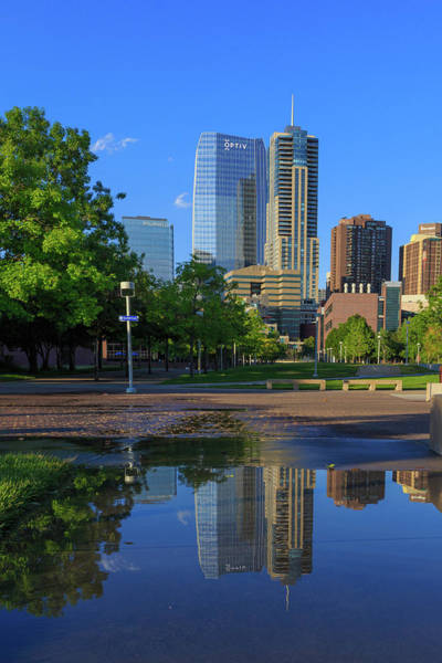 Mile High City Photograph - Reflections Of 1144 Fifthteenth Street, Denver, Colorado by Bridget Calip