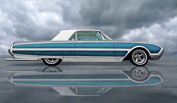 Photograph - Reflections Of A 1961 Thunderbird by Gill Billington