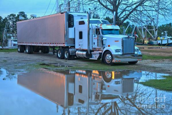Photograph - Reflections Of A Big Rig by Adam Jewell