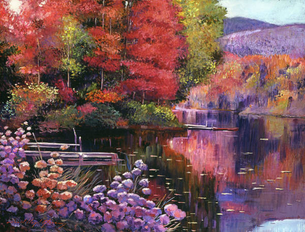 Wall Art - Painting - Reflections Of A Perfect Moment by David Lloyd Glover