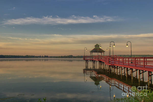 Photograph - Reflections Of A Pier by Rod Best