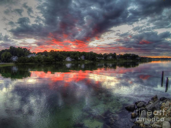 Photograph - Reflections Of A Summer Sky by LR Photography
