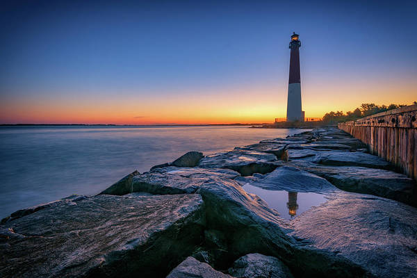 Berk Wall Art - Photograph - Reflections Of Barnegat Light by Rick Berk