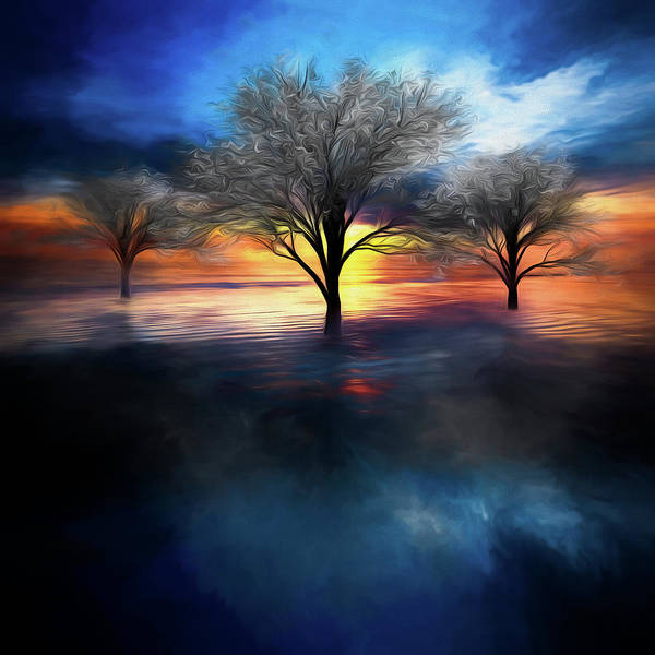 Photograph - Reflections Of Color Watercolors Dream by Debra and Dave Vanderlaan