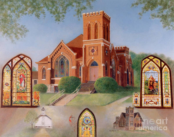 Wall Art - Painting - Reflections Of God's Love by Nancy Lee Moran