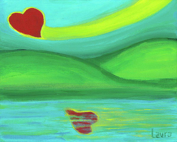 Wall Art - Painting - Reflections Of Love by Laura Zoellner