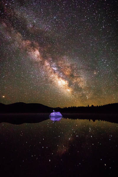 Herron Photograph - Reflections Of Milky Way Hope by Mike Herron