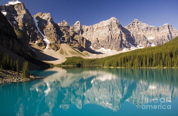 Reflections Of Moraine Lake Art Print by Andrew Serff