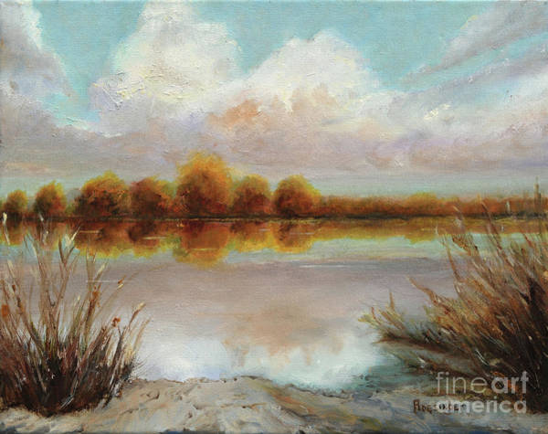 11x14 Painting - Reflections Of Peace Velley by Cindy Roesinger