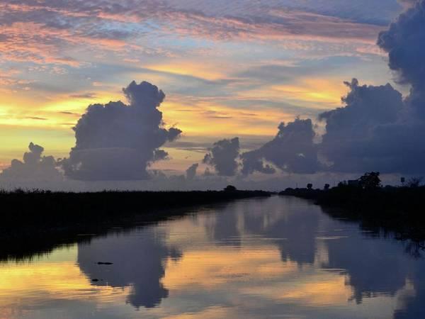 Alligator Alley Photograph - Reflections Of The Predawn Light by Doug Van den Bergh