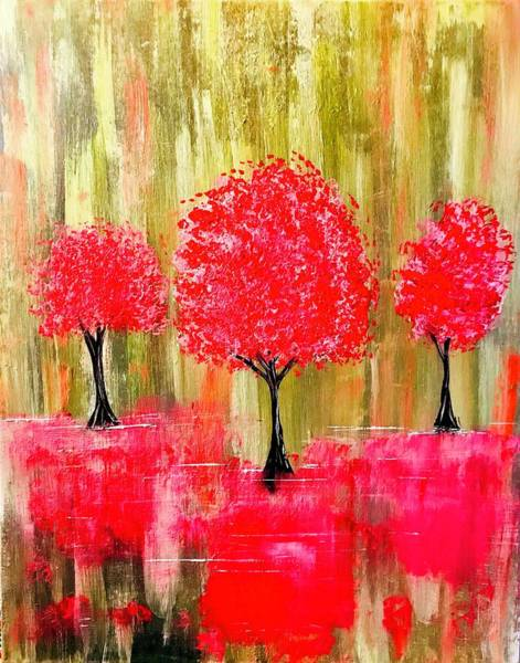 Wall Art - Painting - Reflections Of Trees by Willy Proctor