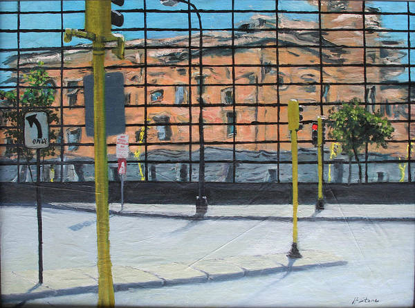 Traffic Signals Painting - Reflections On Life In The City by Holly Stone