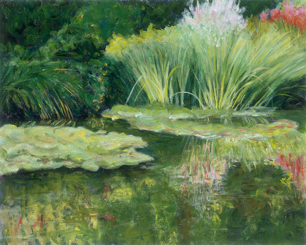 Reflections On Monets Lily Pond Art Print
