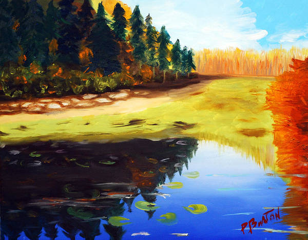 Painting - Reflections by Phil Burton