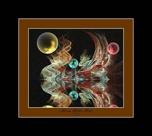 Manipulated Digital Art - Reflections by Sherry Holder Hunt