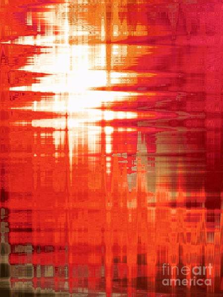Wall Art - Mixed Media - Reflections Sunset by Sharon Williams Eng