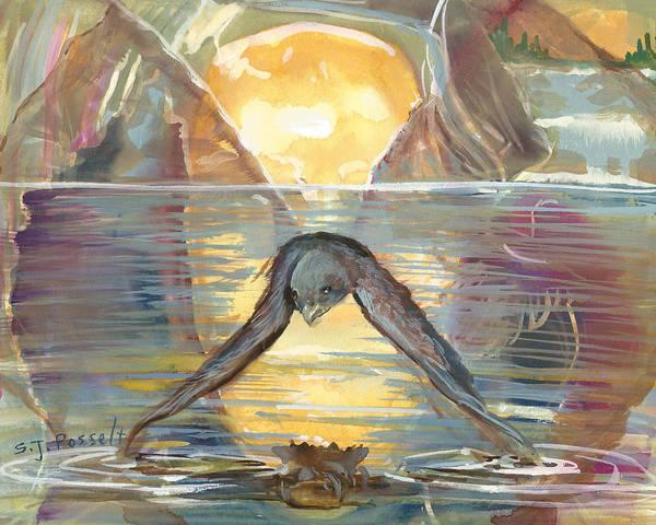 Reflections Swallowed Art Print