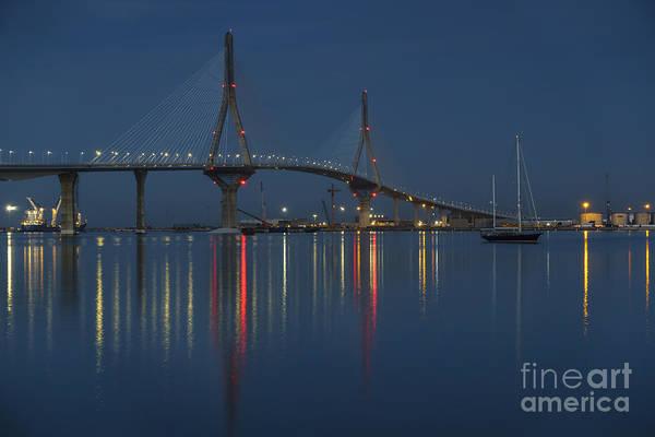 Photograph - Reflections Under The Bridge Cadiz Spain by Pablo Avanzini