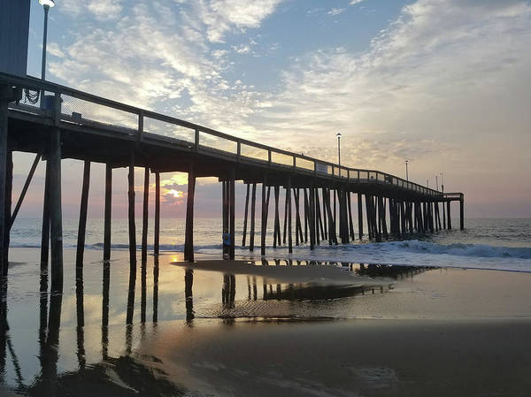 Photograph - Reflections Under The Pier by Robert Banach