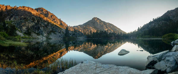 Herron Photograph - Reflective Morning Alpenglow At Eagle Lake by Mike  Herron
