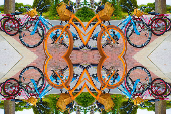 Bike Digital Art - Reflective Rides by Betsy Knapp