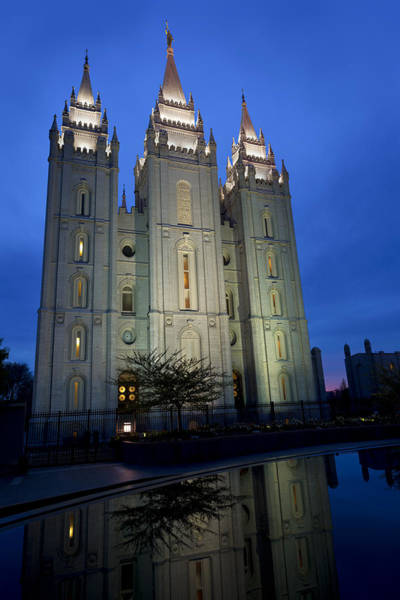 Late Wall Art - Photograph - Reflective Temple by Chad Dutson