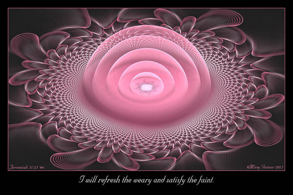 Digital Art - Refresh The Weary by Missy Gainer