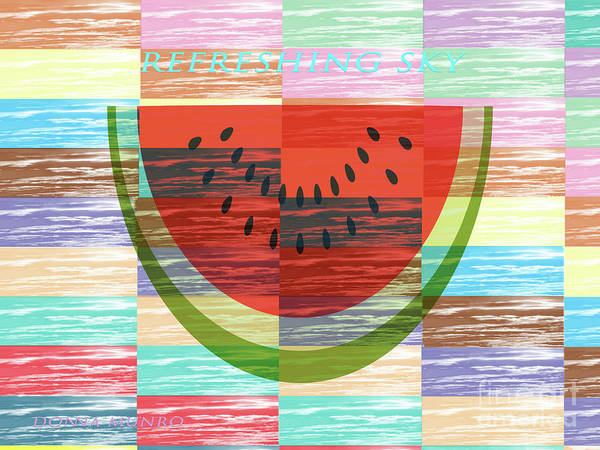 Digital Art - Refreshing Sky Watermelon by Donna L Munro