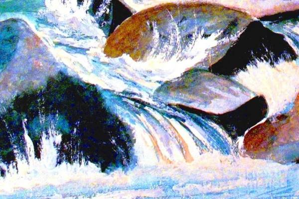 Wall Art - Painting - Refreshing Water by Hazel Holland