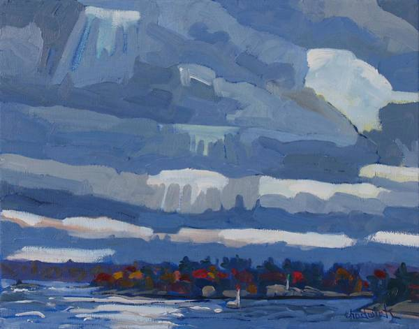Stratocumulus Painting - Refugee by Phil Chadwick