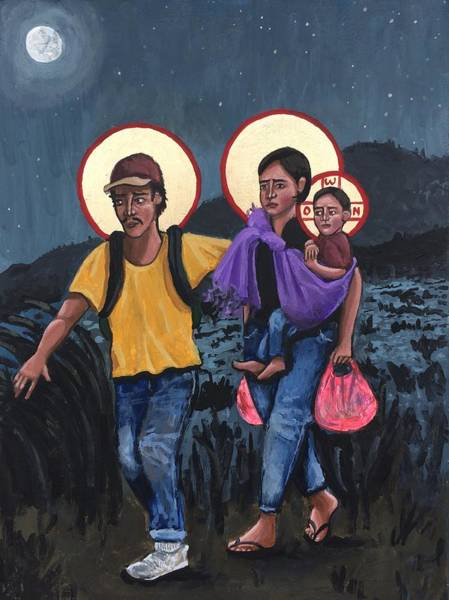 Wall Art - Painting - Refugees La Sagrada Familia by Kelly Latimore