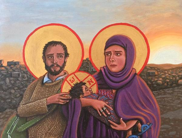 Painting - Refugees The Holy Family by Kelly Latimore