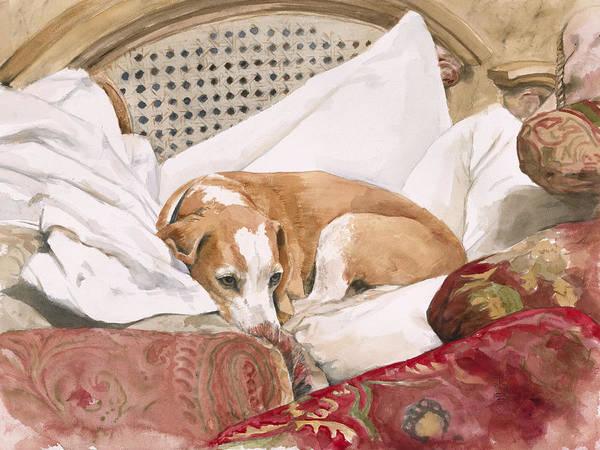 Tuscan Painting - Regal Beagle by Debra Jones