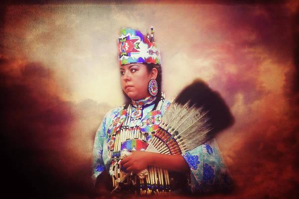 Powwow Wall Art - Photograph - Regal Beauty by Toni Hopper