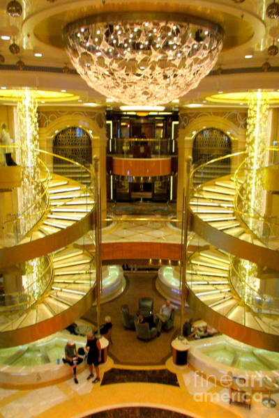 Princess Cruise Lines Photograph - Regal Princess Piazza 2 by Randall Weidner