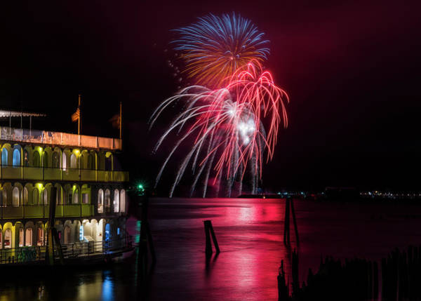 Photograph - Regatta Fireworks by Robert Potts