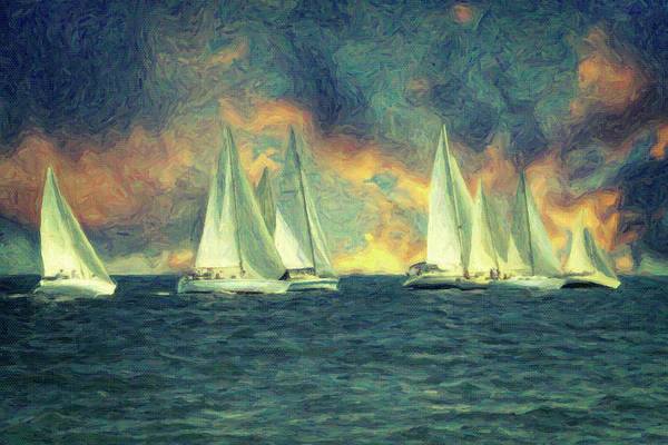 Wall Art - Painting - Regatta by Zapista Zapista