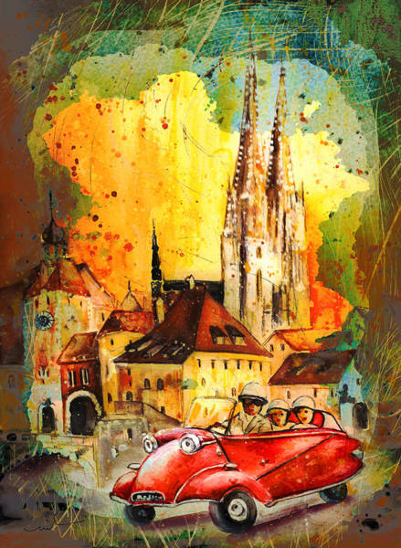 Painting - Regensburg Authentic Madness by Miki De Goodaboom