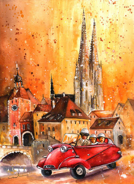 Painting - Regensburg Authentic by Miki De Goodaboom