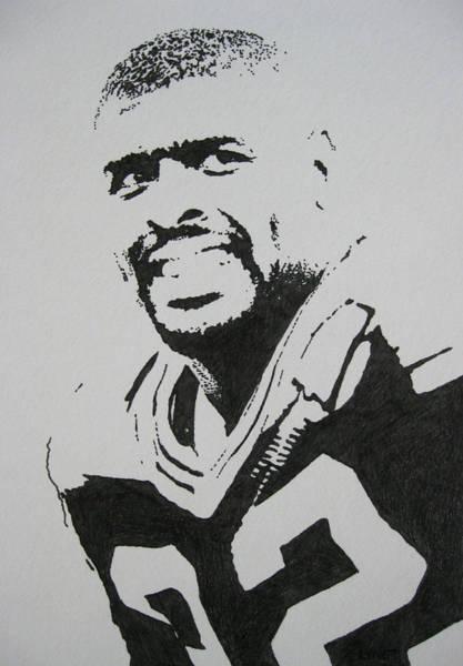 Football Drawing - Reggie by Lynet McDonald