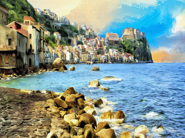 Lake Como Painting - Reggio Calabria by Dominic Piperata