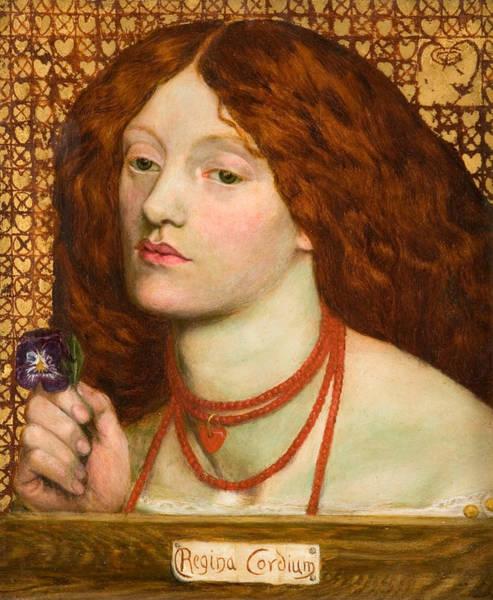 Gabriel Painting - Regina Cordium. Queen Of Hearts by Dante Gabriel Rossetti