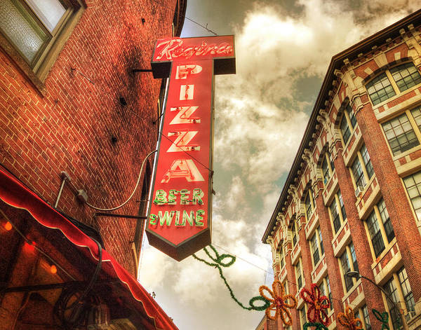 Photograph - Regina Pizza 11x14 by Joann Vitali